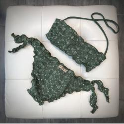 Fascia Bimba Slip Fiocco San Gallo Verde Militare