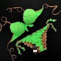 Push Up Bikini Lace Fluo Green Bikini Bottom