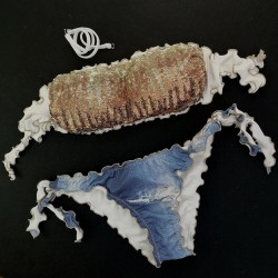 Bandeau Bikini Paillettes Ambra Bikini Jeans Bottom