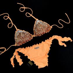 Triangle Bikini Paillettes Peperino Bikini Bottom
