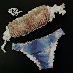 Bandeau Bikini Paillettes Ambra Classic Jeans Bottom
