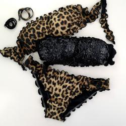 Double Bikini Fascia Black Maku Slip Chiuso