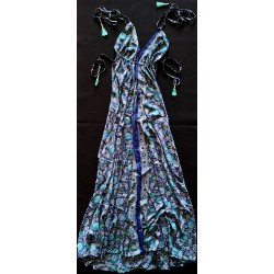 Dress FreeLove Ibiza Blue 100% Silk