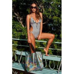 Trikini One-Piece Swimsuit Dea Glitter Grey