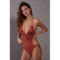 Trikini One-Piece Swimsuit Ruggine