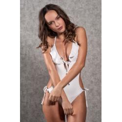 Trikini One-Piece Swimsuit Dea Glitter White
