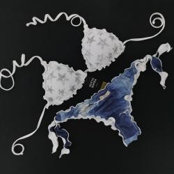 Triangolo Paillettes Stellina Bianco Luce Slip Jeans Brasil
