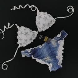 Triangolo Paillettes Stellina Bianco Luce Slip Jeans Chiuso