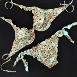 Wired Bra Cup C D Mandala Tiffany Bikini Bottom