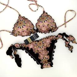 Triangle Bikini Mandala Desert Rose Bikini Bottom