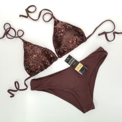 Triangle Cup C D Bikini Paillettes Chocolate Classic Bottom