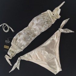 "Bandeau Bikini Gold Gothic ""Stellina"" Bikini Bottom Medium"