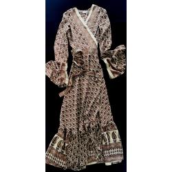 Kimono FreeLove Ibiza Oro Nocciola 100% Seta