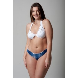 Wired Bra Cup C D Paillettes Stellina White Classic Jeans Bottom