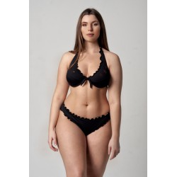 Wired Bra Cup C D Paillettes Stellina Black Classic Bottom