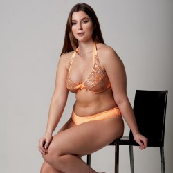 Wired Bra Cup C D Paillettes Peperino Classic Bottom