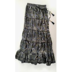 Long Skirt FreeLove Ibiza Grey 100% Silk