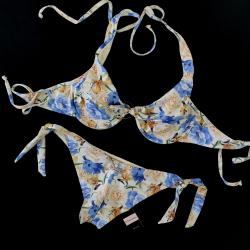 Wired Bra Cup C D Bikini Charming Rose Brazilian Bottom