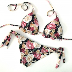 Triangle Bikini Dark Rose Brazilian Bottom