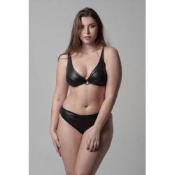 Wired Bra Cup D E Bikini Black Gotich Classic Bottom 5cm High