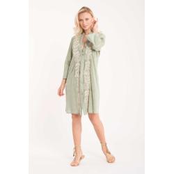 Iconique - Elena 3/4 Sleeve Shirt Dress Verde - IC21-026