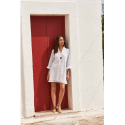 Iconique - Romina 3/4 Sleeve Shirt Dress - IC21-005