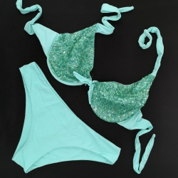 Wired Bra Cup C D Paillettes Tiffany Classic Bottom
