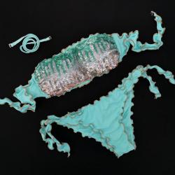 Bandeau Bikini Paillettes Tiffany Bikini Bottom