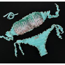 Bandeau Bikini Paillettes Tiffany Brazilian Bottom