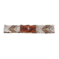 Cintura Iconique White Brown - IC20-AC83