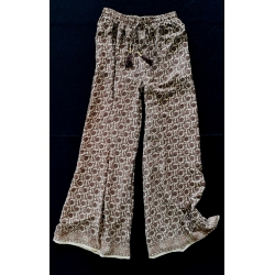 Trousers FreeLove Ibiza Hazelnut Gold 100% Silk
