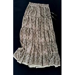Long Skirt FreeLove Ibiza Hazelnut Gold 100% Silk