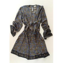 Short Dress FreeLove Ibiza Anthracite 100% Silk