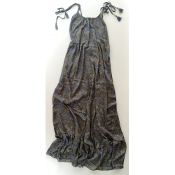 Long Dress Moon FreeLove Ibiza Anthracite 100% Silk