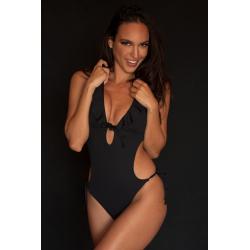 Trikini One-Piece Swimsuit Black
