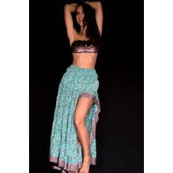 Skirt FreeLove Ibiza Tiffany Flowers 100% Silk