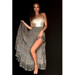 Skirt  FreeLove Ibiza Anthracite 100% Silk