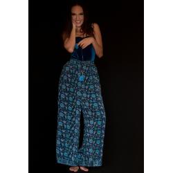 Trousers FreeLove Ibiza Blue 100% Silk