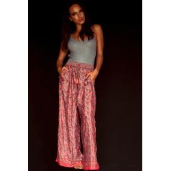 Trousers FreeLove Ibiza Coral 100% Silk