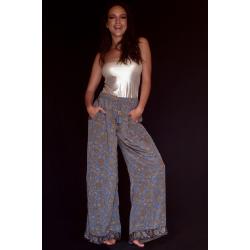 Pantaloni FreeLove Ibiza Antracite 100% Seta