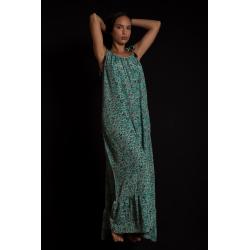 Long Dress Moon FreeLove Ibiza Tiffany  Flowers 100% Silk
