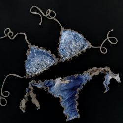 Triangle Bikini Paillettes Samsahara Brazilian Bottom