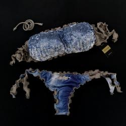 Bandeau Bikini Paillettes Samsahara Brazilian Bottom
