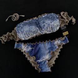 Bandeau Bikini Paillettes Samsahara Classic Bottom