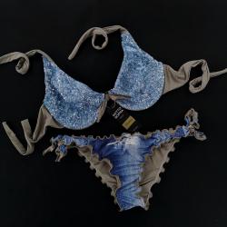 Wired Bra Cup C D Paillettes Samsahara Bikini Bottom