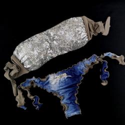 Fascia Paillettes Specchio Silver Slip Jeans Brasil